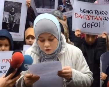 Caucasian Children Protested to Putin